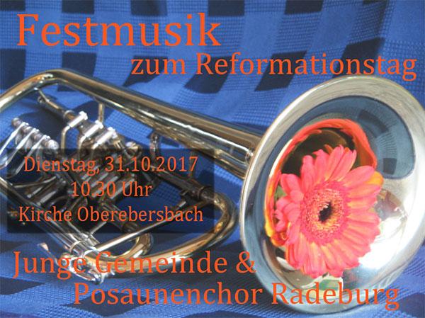 Festmusik zum Reformationstag in der Kirche Oberebersbach
