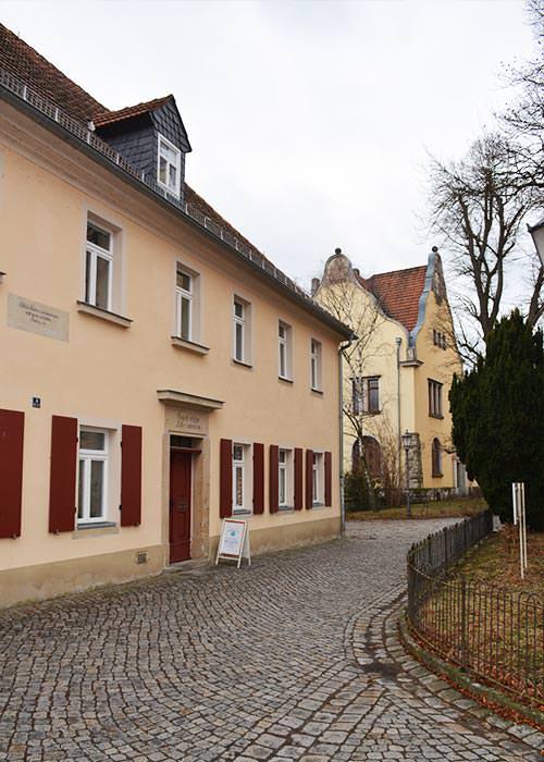 Außenansicht des Eine-Welt-Ladens der Kirchgemeinde Radeburg