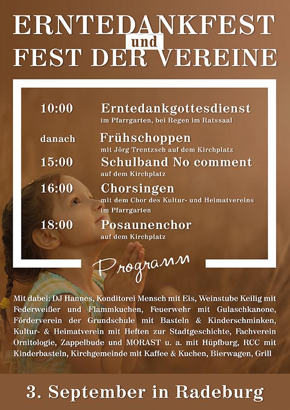 Erntedankfest und Fest der Vereine am 3. September 2017 in Radeburg